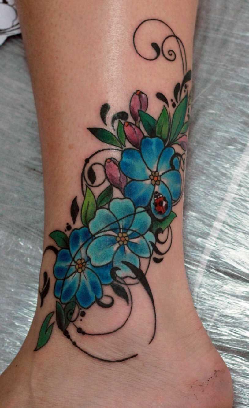 Tatuagem t menina - cores