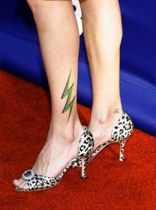 Tatuagem t menina - verde relâmpago